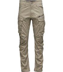 rovic zip 3d tapered casual broek vrijetijdsbroek beige g-star raw