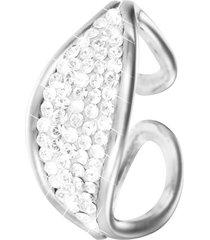 anello in ottone rodiato e cristalli per donna