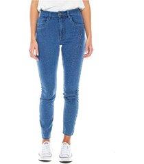 high waist skinny jeans tono medio efecto galaxy color blue