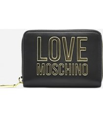 love moschino wallet with maxi contrasting logo