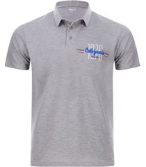 polo california color gris, talla l