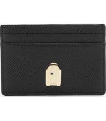 furla women's 1927 small credit card case - black