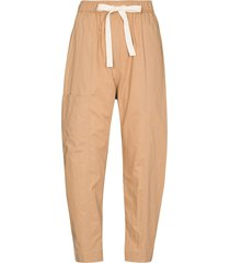 lee mathews high-waist tie-fastening trousers - neutrals