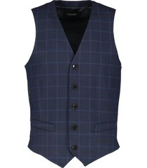 scotch & soda gilet - slim fit - blauw
