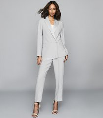 reiss cleo - double breasted blazer in ice blue, womens, size 12
