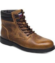 classic tommy jeans lace up boot snörade stövlar brun tommy hilfiger