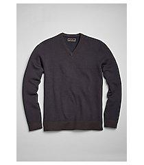 reserve collection cotton & cashmere blend herringbone v-neck men's sweater - big & tall