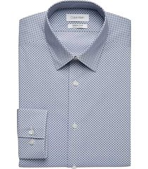 calvin klein men's infinite non-iron blue dot slim fit dress shirt - size: 16 1/2 32/33