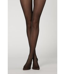 calzedonia 30 denier sheer shaping tights with control top woman black size xl