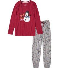 pigiama con stampa lucida (rosso) - bpc bonprix collection