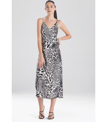 natori jaguar gown pajamas / sleepwear / loungewear, women's, black, size l natori