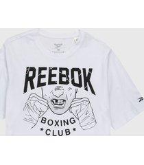 camiseta blanco-negro reebok boxing club