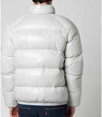 pyrenex men's vintage mythic puffer jacket - pale stone - l