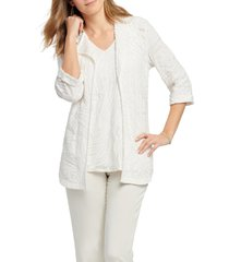 women's nic+zoe make waves cardigan, size medium - white