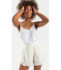 kimber floral shorts - ivory