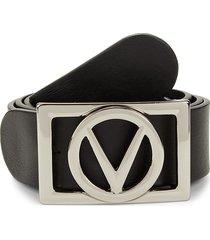valentino by mario valentino men's v-logo leather belt - tobacco - size 42