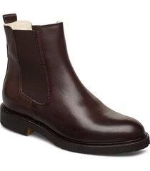 warm lining 97952 stövletter chelsea boot brun billi bi