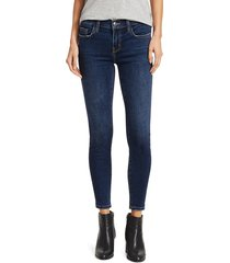current/elliott women's the stiletto low-rise skinny ankle jeans - dark blue - size 32 (12)