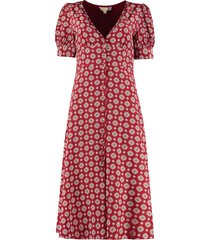 michael michael kors printed silk wrap-dress