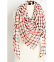 maurices womens multi plaid triangle scarf