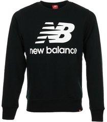 sweater new balance essentials stacked logo crew