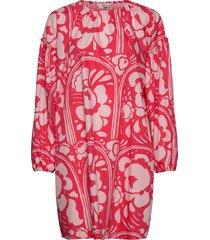 länsi karuselli dress korte jurk rood marimekko