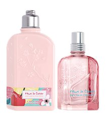 l'occitane duo hidratação e fragrância flor de cerejeira infusion fruitée