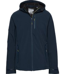 hooded stretch softshell jacket dun jack blauw superdry