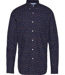 untucked slim-fit luxe poplin shirt skjorta casual blå banana republic