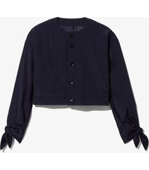 proenza schouler white label textured parachute cropped jacket navy/black m