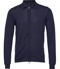 nyle-perfect merino gebreide trui cardigan blauw j. lindeberg
