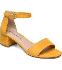 woms sandals sandal med klack gul tamaris