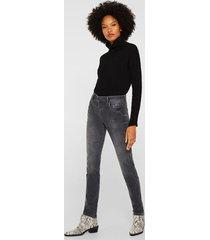jeans slim medium rise gris esprit