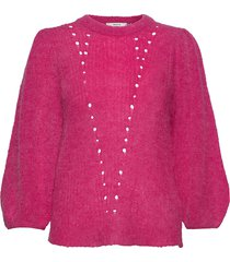 rikkagz puff pullover ao20 gebreide trui roze gestuz