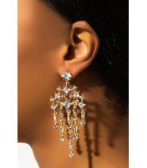 akira cross my stars rhinestone dangle earring