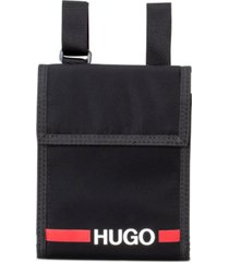 hugo boss men's record nylon neck pouch