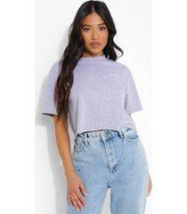 petite kort t-shirt, grey marl