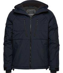 aeon padded jacket gevoerd jack blauw superdry