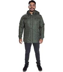 jaqueta carbella casaco impermeável acolchoado capuz removível verde