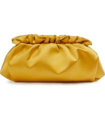 lafayette 148 new york satin pochette clutch - yellow
