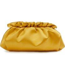 lafayette 148 new york satin pochette clutch - yellow