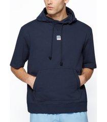 boss x russell athletic men's short-sleeved hoodie