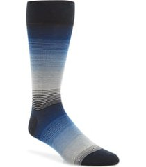 men's cole haan gradient stripe socks, size one size - blue