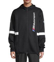 puma men's bmw motorsport hooded track jacket - black - size xl