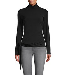 shea sash-tie turtleneck top