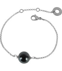 antica murrina designer bracelets, perleadi black murano glass bead chain bracelet