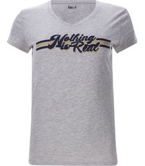 camiseta nothing is real color gris, talla m