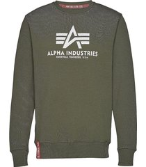 basic sweater sweat-shirt tröja grön alpha industries