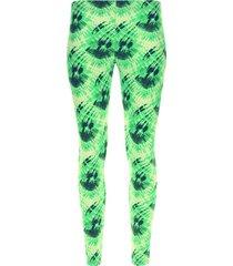 leggings sport color difuminado color verde, talla l