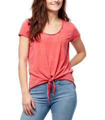 william rast astrid tie-front t-shirt
